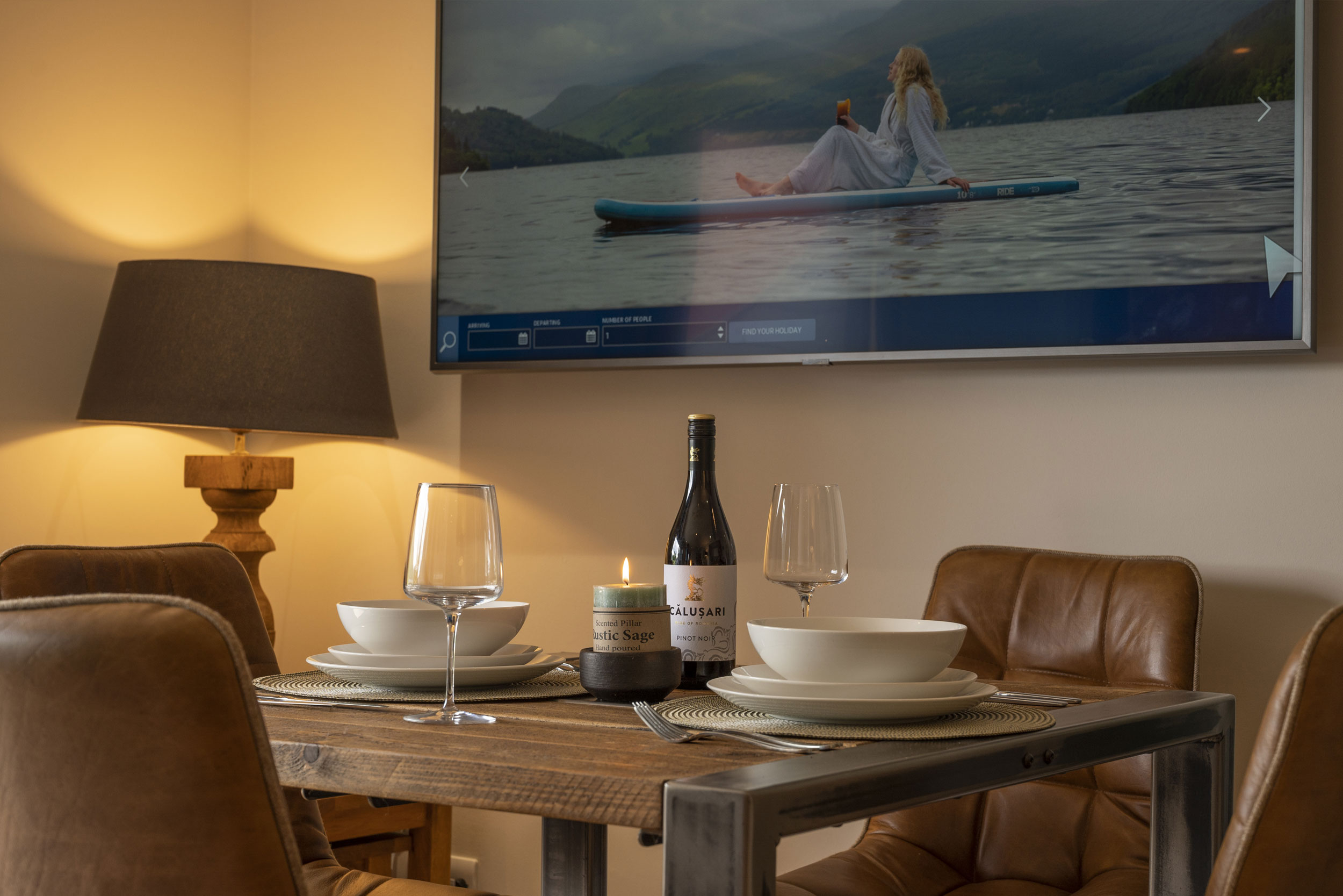 Dining For Four People In The Self-catering Apartments Scotland