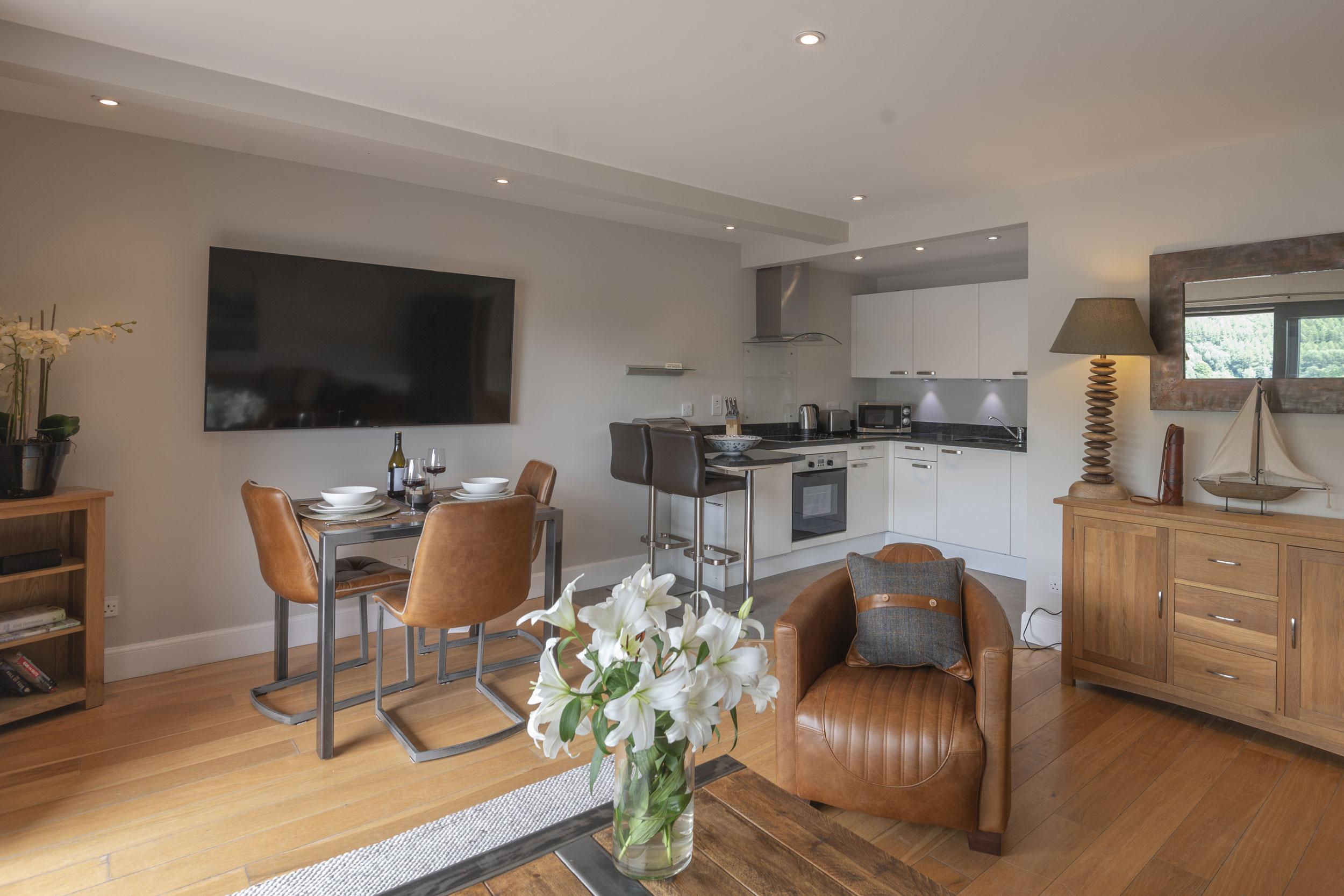 Beinn Fhada Open Plan Living Space